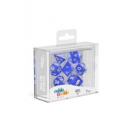 ODD500011 - OAKIE DOAKIE DICE RPG SET TRANSLUCENT - BLUE (7)