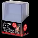 15281 - 10 TOPLOADER 3' X 4' - SUPER THICK 130PT + CARD SLEEVES