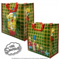 ABYBAG004 - SHOPPING BAG SIMPSONS CHRISTMAS FAMILY
