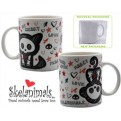 ABYMUG021 - SKELANIMALS - TAZZA MEDIA BOX -  KIT & MARCY