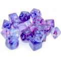 CHX 27357 - SET 10 DADI 10 FACCE - NEBULA NOCTURNAL/BLUE LUMINARY