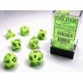 CHX 27430 - SET 7 DADI POLIEDRICI - VORTEX BRIGHT GREEN W/BLACK