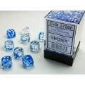 CHX 27866 - SET 36 DADI 6 FACCE 12MM - NEBULA DARK BLUE W/WHITE