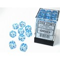 CHX 27981 - SET 36 DADI 6 FACCE 12MM - BOREALIS ICICLE/LIGHT BLUE LUMINARY