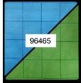 CHX 96465 - BATTLEMAT REVERSIBILE 60X66CM - BLUE GREEN SQUARES (2,54CM)