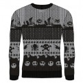 NIGHTMARE BEFORE CHRISTMAS - KNITTED JUMPER - SYMBOLS M