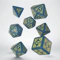 SARC1E - SET 7 DADI - ARCADE BLUE & YELLOW