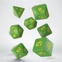 SCLR2F - SET 7 DADI - CLASSIC RUNIC GREEN YELLOW