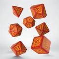 SDRS1D - SET 7 DADI - DRAGONS SLAYER RED ORANGE