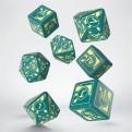 SPOL94 - SET 7 DADI (3D6+3D10+1D20) POLARIS RPG TURQUOISE LIGHT YELLOW