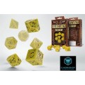 SSTE13 - SET 7 DADI STEAMPUNK GIALLO/NERO - 55083