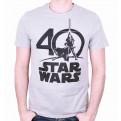 STAR WARS - TS062 - T-SHIRT STAR WARS LOGO 40 YEARS M