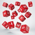 WUK103 - SET 15 DADI D6 - BATTLE UNITED KINGDOM RED & WHITE