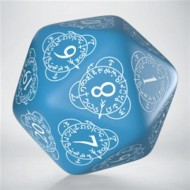 20LEV33 - DADO D20 LEVEL COUNTER BLUE & WHITE