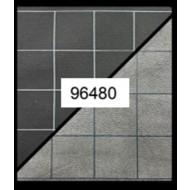 CHX 96480 - BATTLEMAT REVERSIBILE 60X66CM - BLACK GREY SQUARES (2,54CM)