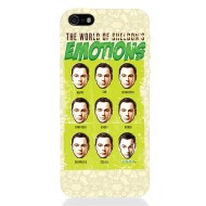 TBBT56 - COVER IPHONE 5 THE BIG BANG THEORY SHELDON'S EMOTIONS OPACA