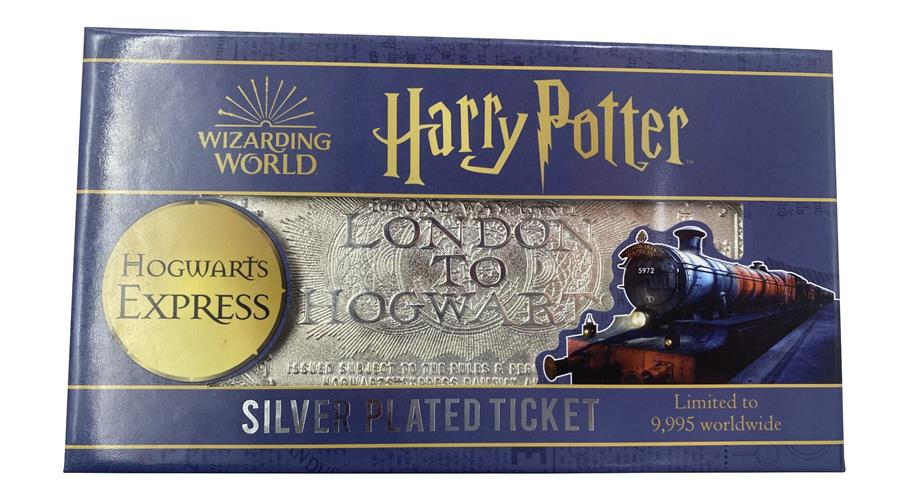 HARRY POTTER - SILVER PLATED TICKET - HOGWARTS TRAIN