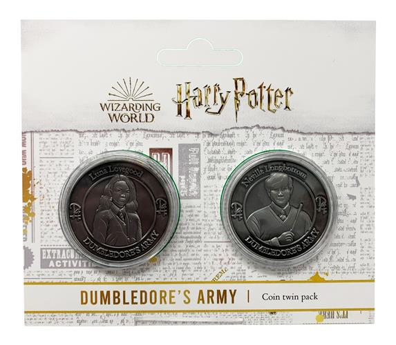 HARRY POTTER - TWIN PACK OF FLIP COIN - NEVILLE AND LUNA